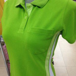 เสื้อโปโลผ้า TC ลาครอสสีเขียว