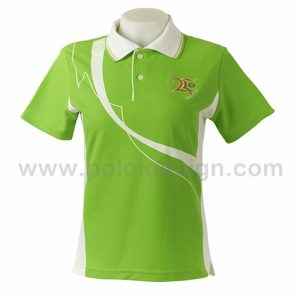 White polo shirt with white embroidery and embroidery