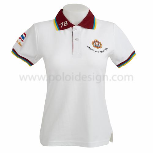เสื้อโปโล หน่วยงานราชการตำรวจ สีขาว