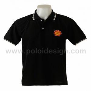 เสื้อโปโล สีดำ Shell