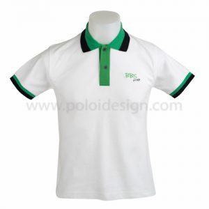 เสื้อโปโล สีขาว ขอบเขียว