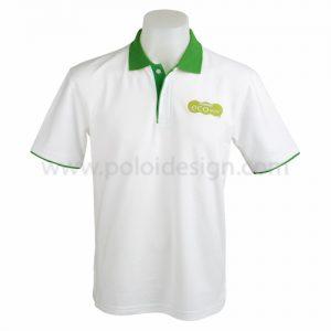 เสื้อโปโล สีขาว Eco Style