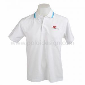 เสื้อโปโล สีขาว PK Production