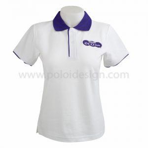 เสื้อโปโล Sport Day สีขาวม่วง