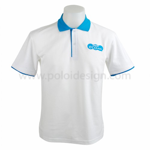 เสื้อโปโล Sport Day สีขาวฟ้า