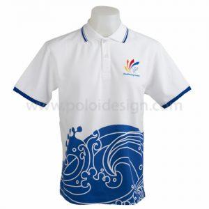 เสื้อโปโล ประเภทกีฬา สีขาว