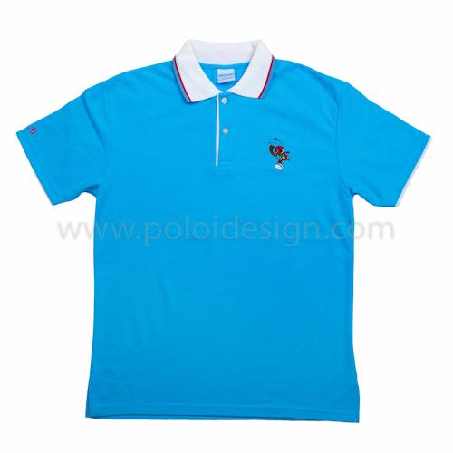 เสื้อโปโล สีฟ้าอ่อน